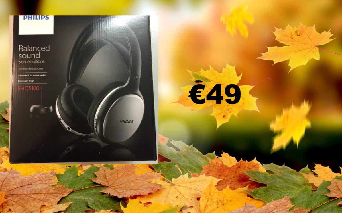 Foto van hoofdtelefoon met prijs 49 euro.